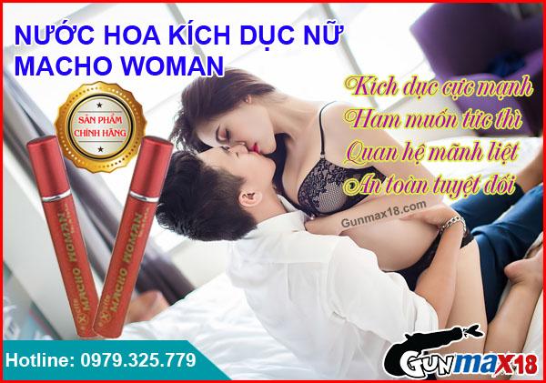 Nước hoa kích dục nữ Macho Woman chính hãng