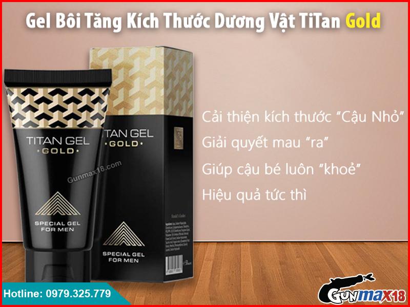 Gel bôi tăng kích thước dương vật Titan Gel Gold