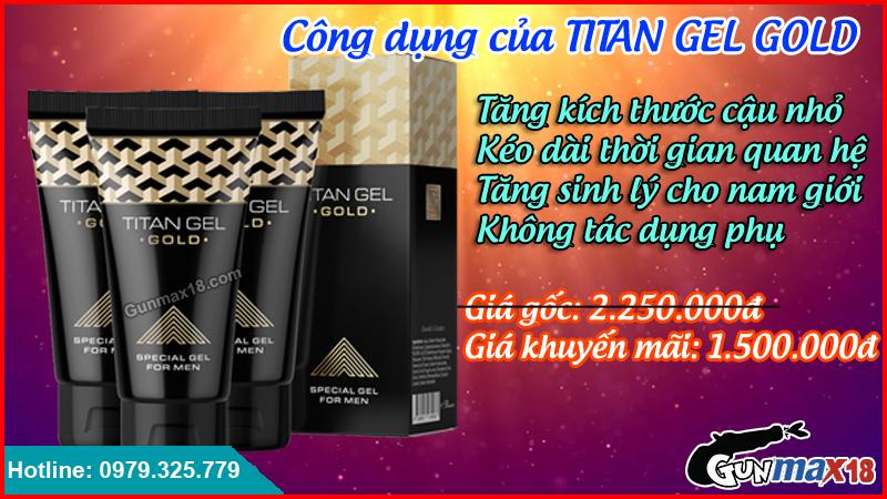 Công dụng của Titan Gel Gold