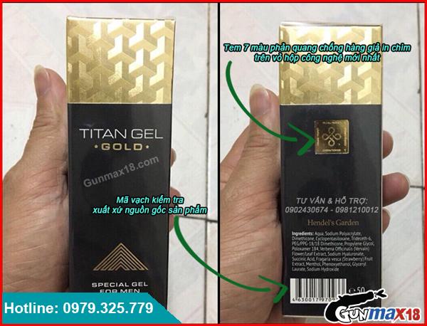 Cách phân biệt Titan Gel Gold