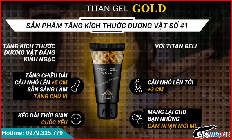 Titan Gel Gold tăng kích thước dương vật